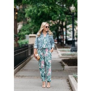 Old Navy Tropical Printed Cami Jumpsuit